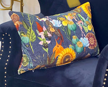 Flora Vintage Printed Velvet Cushion Cover 60 x 40 cm