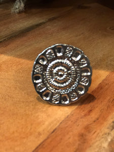 Embossed Silver Drawer Pull | Handles
