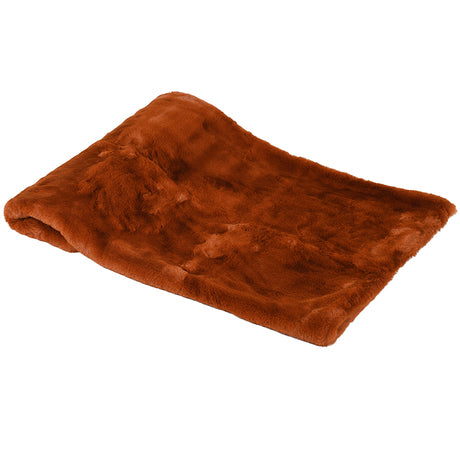 Burnt Amber Faux Fur Throw, bold colours throw, new trend, home furniture shop