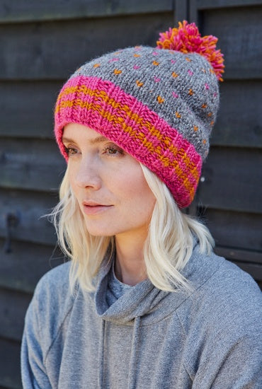 Bantry Bobble Beanie Pink