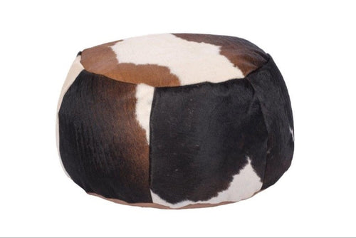 Tri-Colour Cowhide Beanbag, Home Furniture, Floor Cushion
