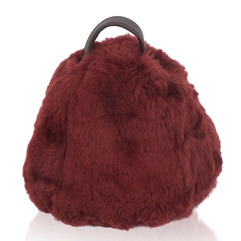 Luxury Sheepskin Doorstops Bordeaux