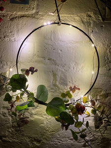 LED Hoop Wreath With Green Foliage