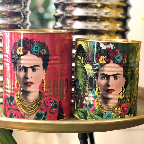 Set Of 2 Limited Edition Frida Kahlo Storage Tins Pink | Yellow
