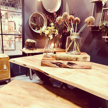 Live Edge Natural Wood Dining Table display