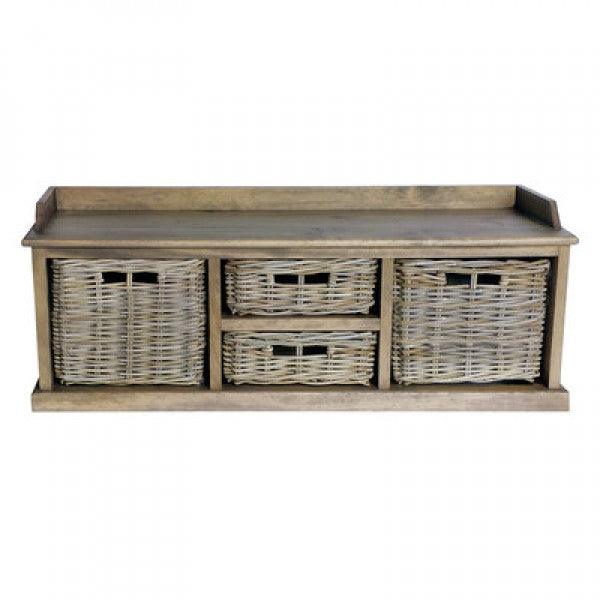 Maya Rattan Long Low Storage Unit
