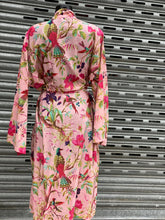 Ladies Cotton Kimono Bird of Paradise Design in Pink