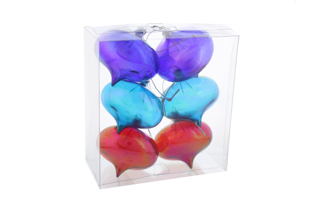 Rainbow Iridescent Baubles | Set Of 6 | Decor