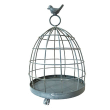 Rustic Metal Birdcage Candle Holder