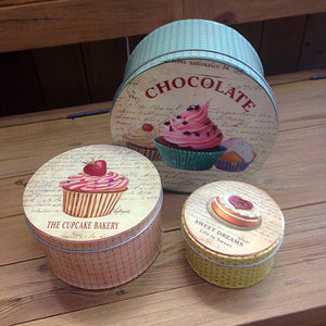 Set of 3 Cake Tins gifts tableware kitchen accessories