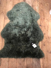 Long Wool Large Green Sheepskin animal skins rugs affordable home decor and style