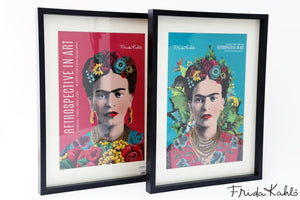 Frida Print Blue and pink
