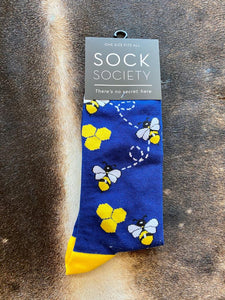 blue Bee Socks