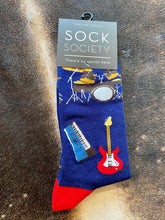 dark blue Musical Instrument Socks