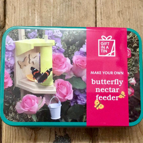 Make Your Own Butterfly Nectar Feeder in a Tin Gifts in a tin for kids outdoor
