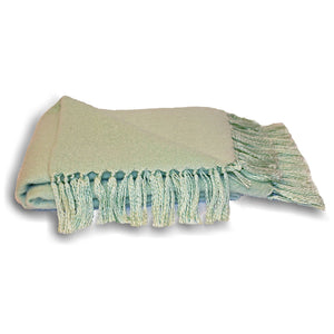 mint green mint Woven Fringed Throw
