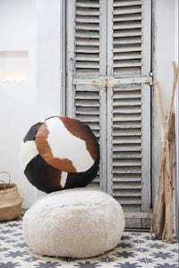 Tri-Colour Cowhide Beanbag