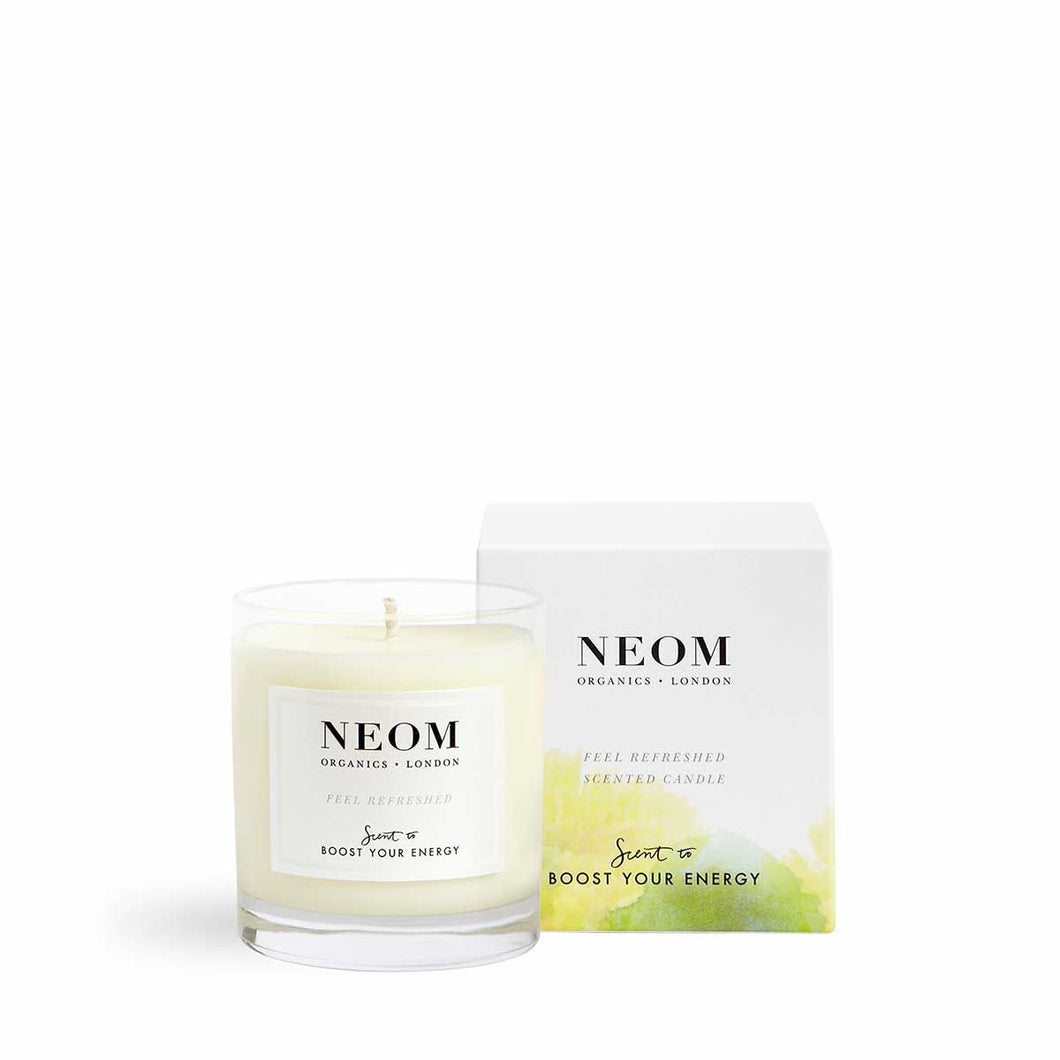 Feel Refreshed Scented Candle | One Wick Neom Organics