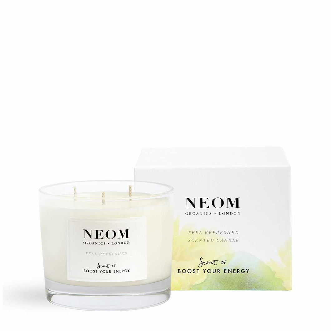 Feel Refreshed Scented Candle | Three Wicks Neom Limited