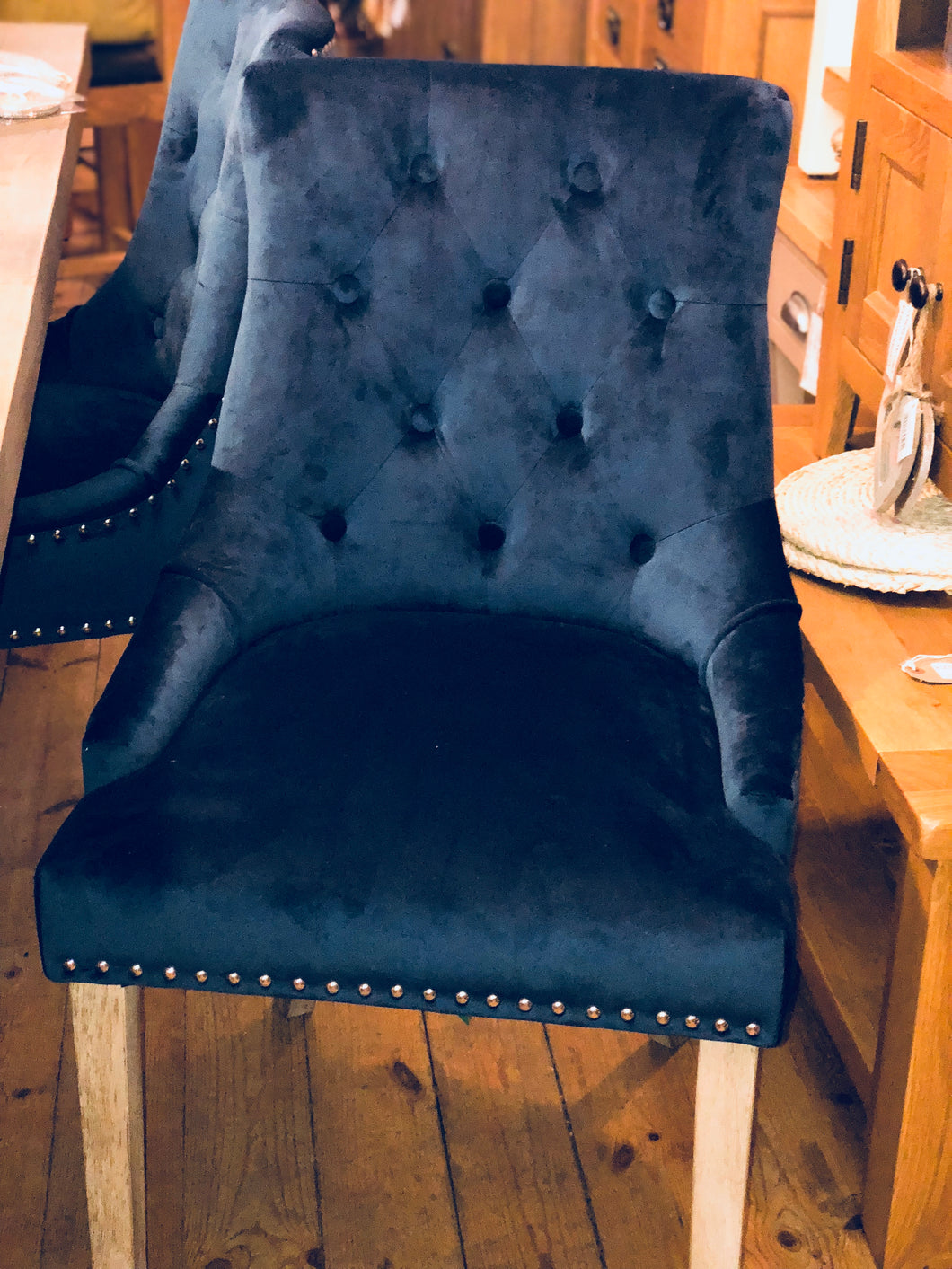 Vicky Dining Chair Prussian Blue