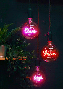 Pink LED Filament Bulb LIVE | Signage Lighting