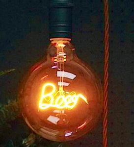 Yellow LED Filament Bulb BEER | Signage Lighting