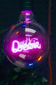 Pink LED Filament Bulb Dream | Signage Lighting