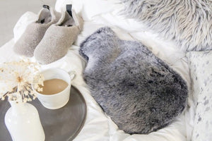 Luxury Sheepskin Hot Water Bottles Grey owen barry gifts for her