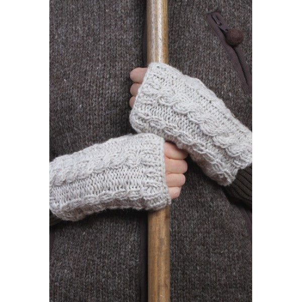 Chaminox Wrist warmer fashion winter gifts for her oatmeal colour