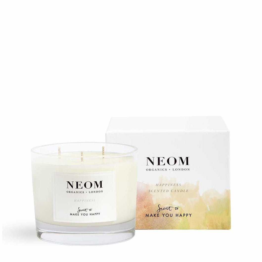 Happiness Scented Candle | Three Wicks Neom Limited