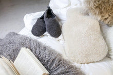 white Sheepskin Hot Water Bottles
