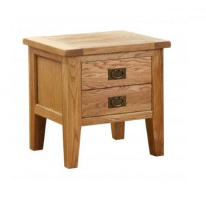 Vancouver Petite Oak 1 Drawer Lamp Table affordable home furniture shop