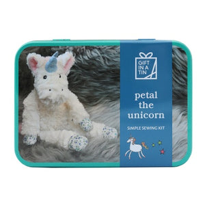 Petal the Unicorn in a Tin