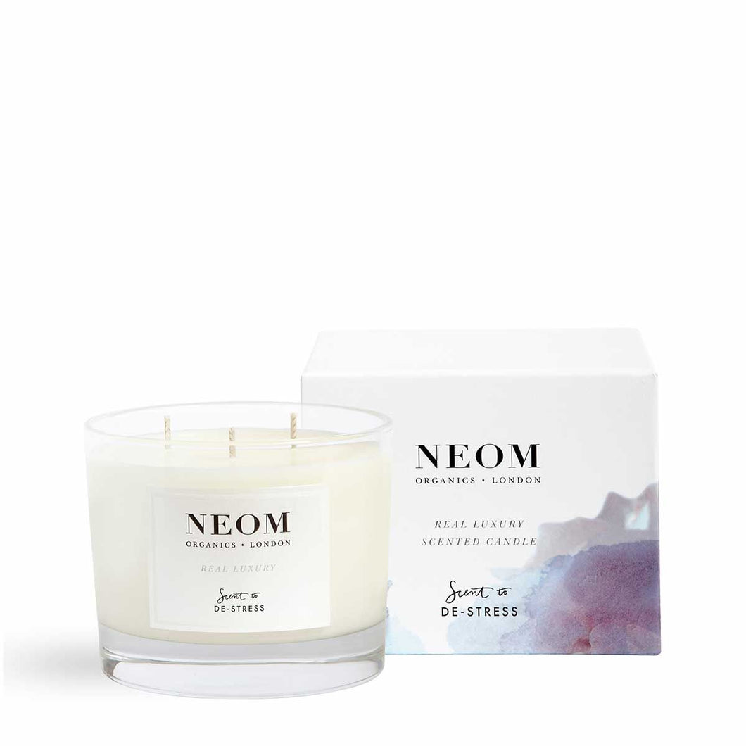 Real Luxury Scented Candle | Three Wicks Neom Organics