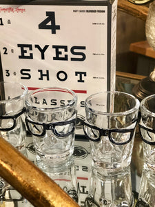 Set of 4 Eye Shot Glasses Kitchen accessories home furniture shop