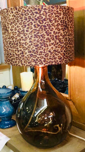 Glass Garaffa Bottle Lamp Smoked Glass, table lamps, lighting, home furniture shop