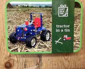 Tractor in a Tin gifts in a tin for kids home furniture shop