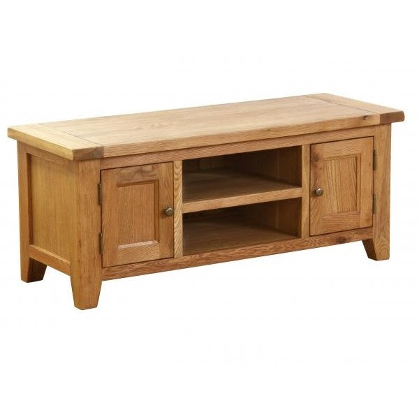 Vancouver Petite Oak 2 Door 1 Shelf TV Unit affordable home furniture shop