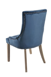 back view Vicky Dining Chair Prussian Blue
