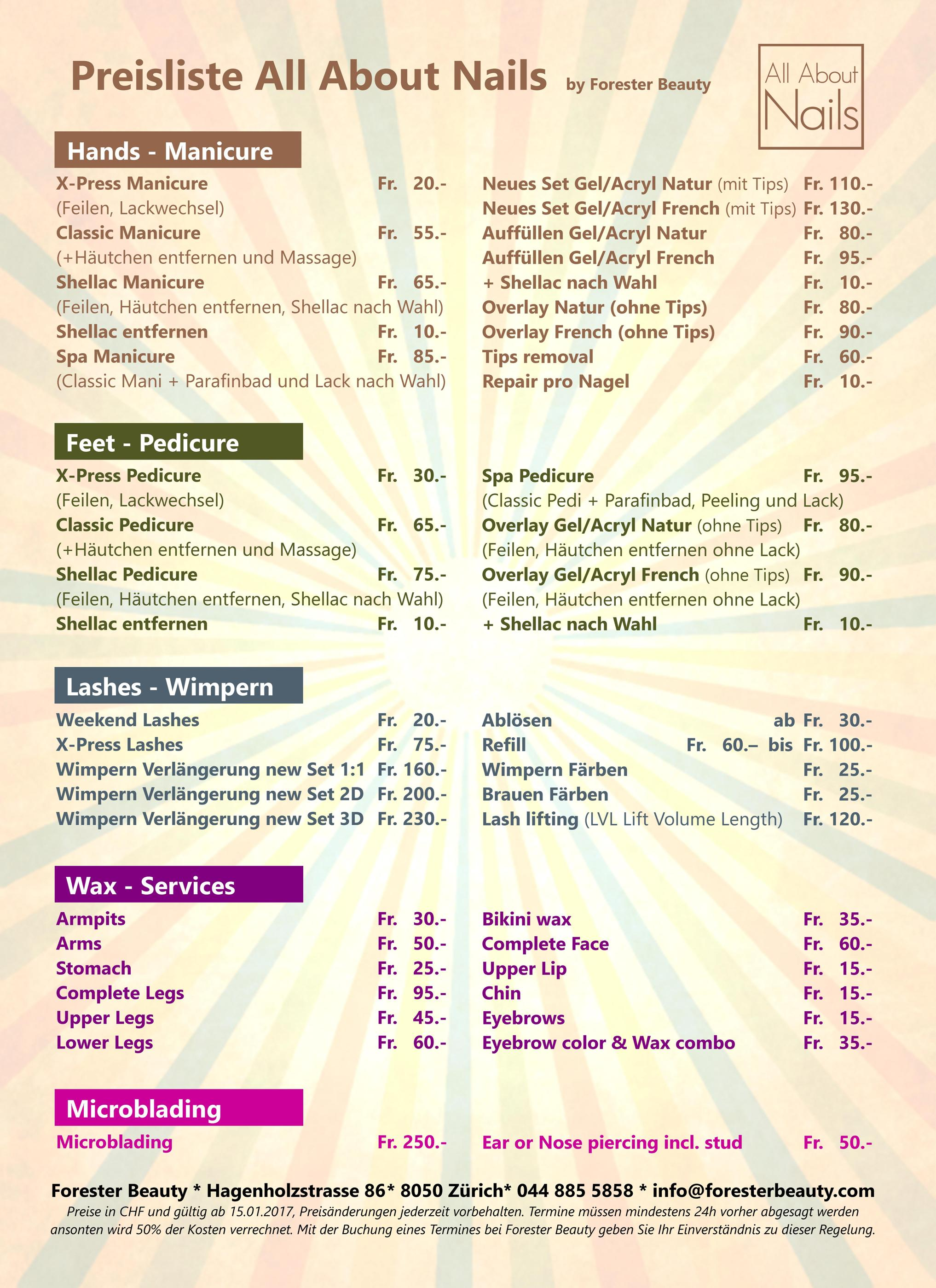 AAN Price List