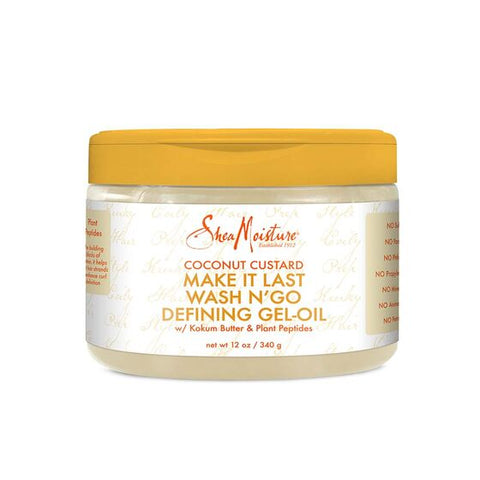 SHEAMOISTURE COCONUT CUSTARD MAKE IT LAST WASH N' GO DEFINING GEL-OIL