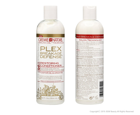 CREME OF NATURE PLEX BREAKAGE DEFENSE STEP 3 RESTORING CONDITIONER
