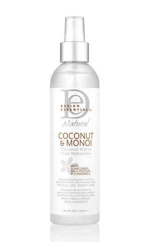 Design Essentials Coconut & Monoi Coconut Water Curl Refresher 8oz