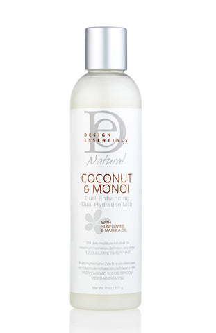 Design Essentials Coconut & Monoi Curl Enhancing Dual Hydration Milk 8oz