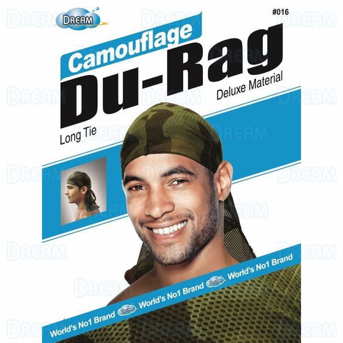 Dream Silky & Shiny Deluxe Luxury Du-Rag Camouflauge Army
