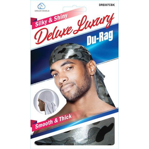 Dream Silky & Shiny Deluxe Luxury Du-Rag Camouflauge Black