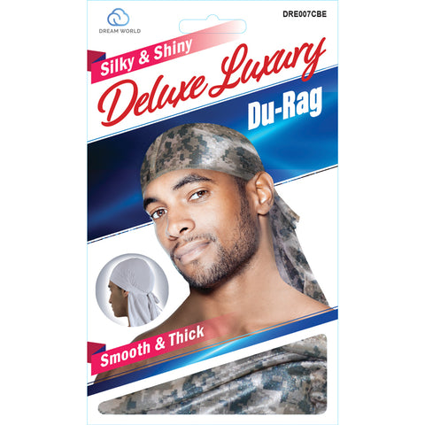 Dream Silky & Shiny Deluxe Luxury Du-Rag Camouflauge Digital Beige