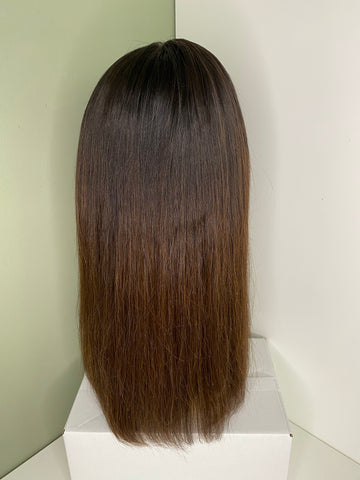 Indian Virgin Human Hair Front Lace Wig N68 16""