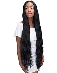 Janet Collection Swiss Lace Extended Part Deep Wig - SUPER WAVE