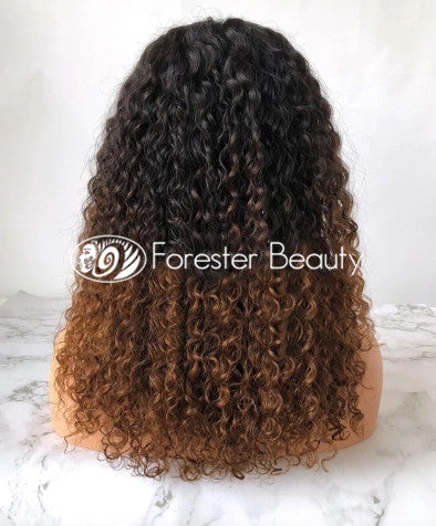 Indian Virgin Human Hair Front Lace Wig N27